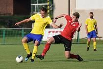 Fotbalová I.A třída: Trhové Sviny - Vimperk 5:0 (2:0).
