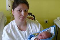 Lukáš Roučka se v písecké porodnici narodil 18. října ve 21.39 hodin. Vážil