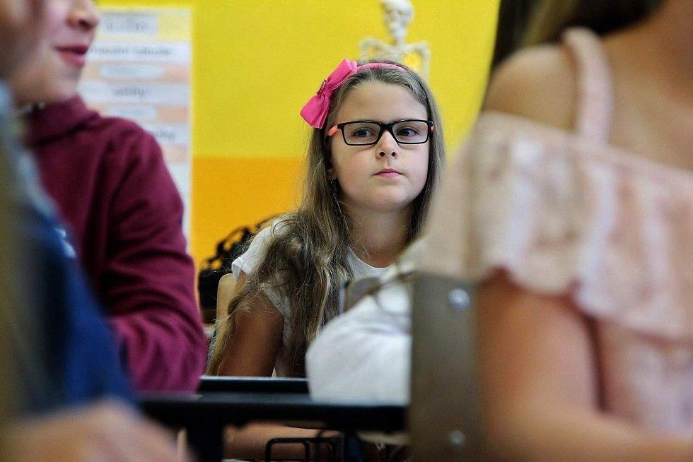 První školní den v Lenoře.