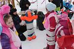 Děti v Horní Vltavici řádily při karnevalu.