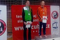 Alice Andrlová (vpravo) vyhrála mezi mladšími dorostenkami.