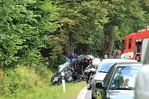 Smrtelná dopravní nehoda u Vimperka.