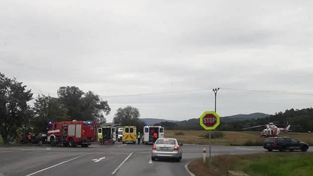 U Stopařky se stala nehoda, průjezd jen s omezením.