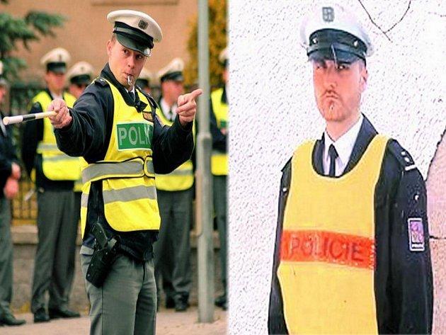 PRAVÝ NEBO SKUTEČNÝ? Již brzy by měli Volarští získat laminátovou maketu policisty. Ta by měla za každého počasí usměrnit řidiče projíždějící městem. Maketa je od skutečného policisty k nerozeznání, nedá ale pokutu a nepohybuje se. Ilustrační foto.