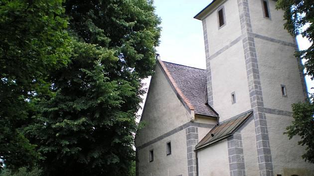 Kostel na Libínském Sedle.
