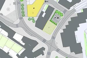 Schéma Malého náměstí vypracované v roce 2005.