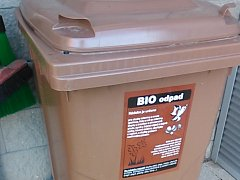 Nádoba na biologický odpad.