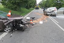Vážná dopravní nehoda u Libějovic.