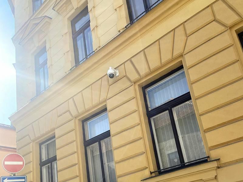 Kamera v ulici Křišťanova.
