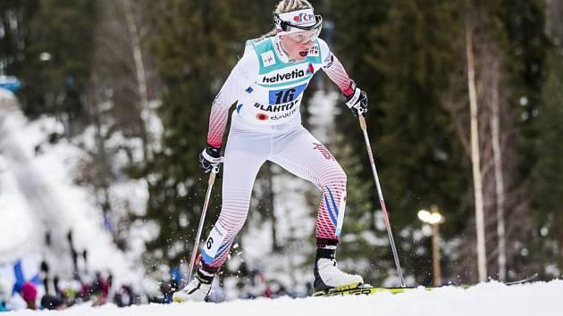 TALENT. Barbora Havlíčková absolvovala závod ve skiatlonu. Dojela na 43. místě.
