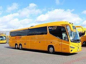 Autobusy společnosti RegioJet. Ilustrační foto