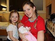 Dvě dcery mají od středy 13. prosince manželé Pavel a Kristýna Frnkovi ze Lhenic. Po dnes již tříleté Julince se jim totiž v prachatické porodnici ve 21:31 hodin narodila Sofie Frnková. Sestřičky holčičce zapsaly porodní váhu  3660 gramů.
