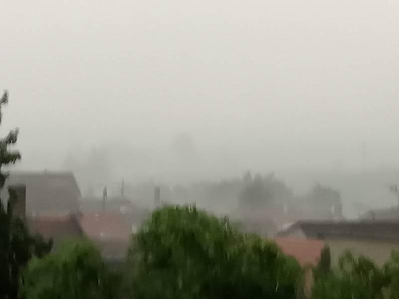 Bouřka v Dačicích-