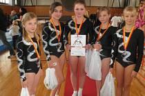Vimperské gymnastky byly stříbrné.