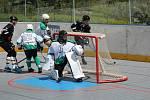 Prachatičtí hokejbalisté si k přípravě pozvali hráče českobudějovického Pedagogu.