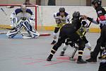I. liga hokejbalu: HBC Prachatice - HBC Hostivař 3:4.