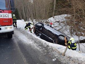 Nehoda u Nové Hůrky na Šumavě