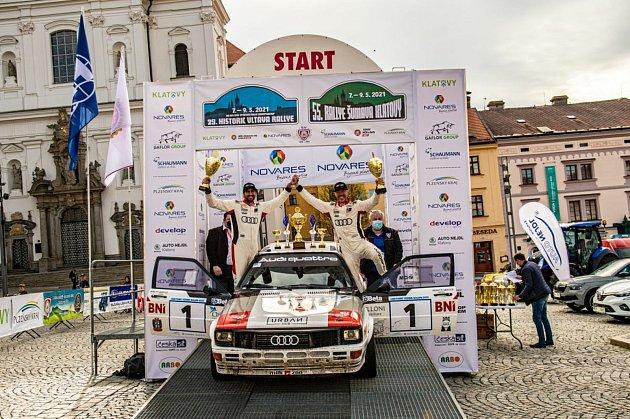 Historic Vltava Rallye 2021vyhráli Italové.