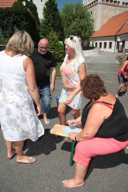 Centrum Stroom Dub připravilo na středu pokus o rekord v počtu lidí v žabkách s doprovodným programem.