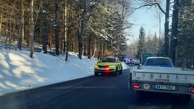 Dopravní nehoda u Leptače na Prachaticku.