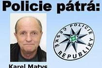 Pátrání po 59letém Karlu Matysovi z Vimperka.