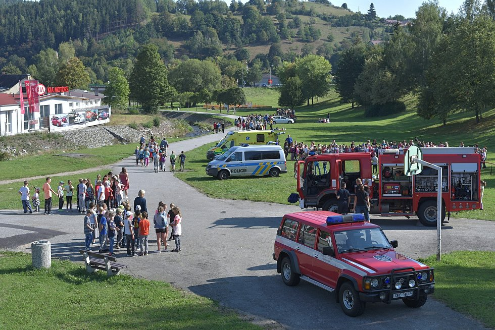 Světový den první pomoci ve Vimperku.