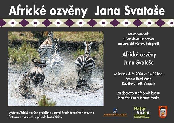 Pozvánka na vernisáž fotografické výstavy Africké ozvěny