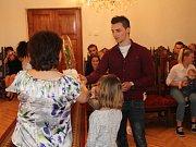 Sebastien Vetor s rodinou.