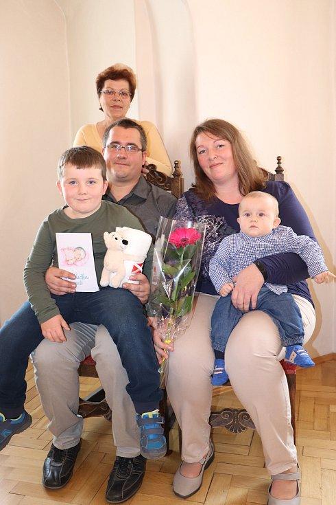 Marek Miklas s rodinou.