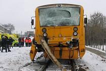 Srážka vlaků u Vodňan.