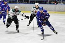 Hokejová Krajská liga: HC Vimperk - Slavoj Český Krumlov 3:5.