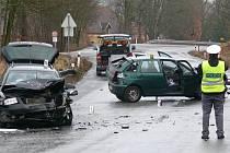 Dopravní nehoda u Kratochvíle.