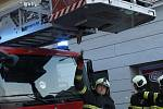 Zásah hasičů v Dolní bráně v Prachaticích.