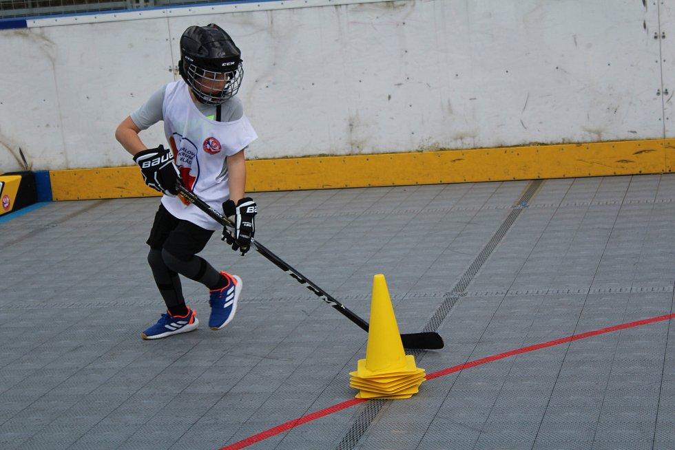 Nejmladší hokejbalisté HBC Highlanders Prachatice se po více než půl roce vrátili k tréninku.