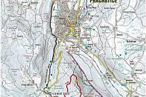 Přehled běžeckých stop v okolí Prachatic.