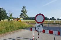 Oprava silnice z Němčic do Češnovic.