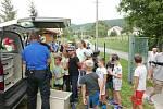 Děti se loučily s létem při branném závodě.
