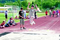 Žáci z Vodňanky měli atletickou olympiádu.