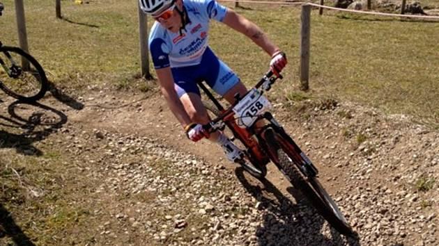 Martin Stošek na trati závodu v Německu.