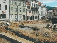 Rekonstrukce náměstí v Prachaticích.