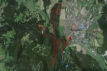Tudy poběží závodníci na trati 13 km.