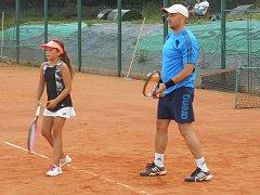 Turnaj tenisových mixů v Prachaticích.