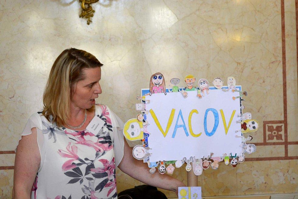 Pavlína Kopáčiková z Vacova při semifinálovém boji.