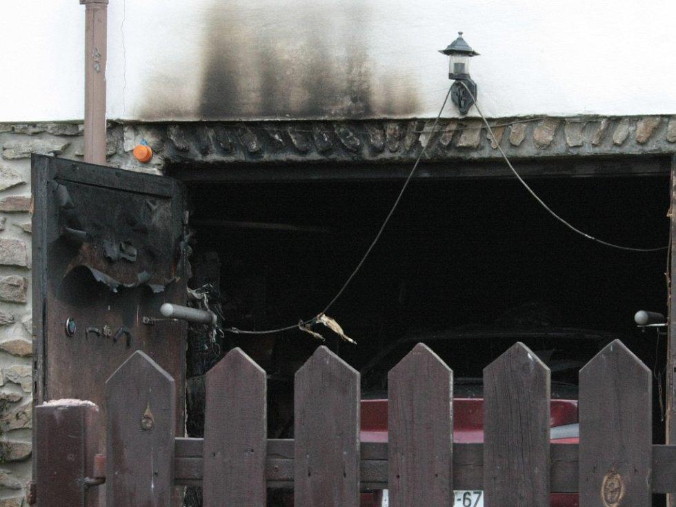 Rodinný domek ve Vimperku, v němž se odehrála tragédie.
