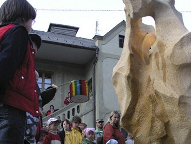 Vimperští se dočkali kašny v Pivovarské ulici.