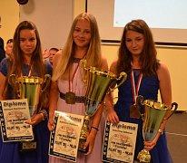 Kateřina Roblová (uprostřed) získala na MS čtyři zlaté medaile.