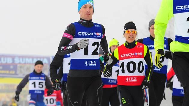 MČR v zimním triatlonu 2015 na Vodníku.
