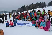 Druhý závod Bázumského poháru v obřím slalomu ve Strážném.