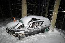 Čtvrtek 5. ledna: Nehoda u Lipky na Vimpersku.