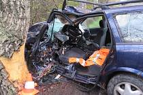 Vrtulník transportoval ženu od nehody s těžkým zraněním do nemocnice v Českých Budějovicích.